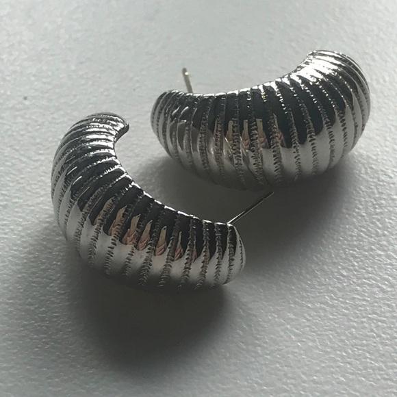 Monet Jewelry - Vintage Monet Faux Silver Earrings